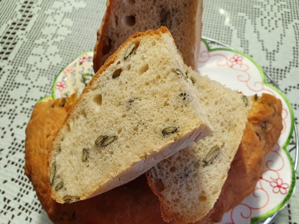 Bel kruh z bucnimi semeni