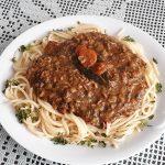 Špageti z mesno omako