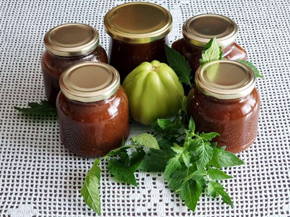Marmelada iz zelenega paradiznika